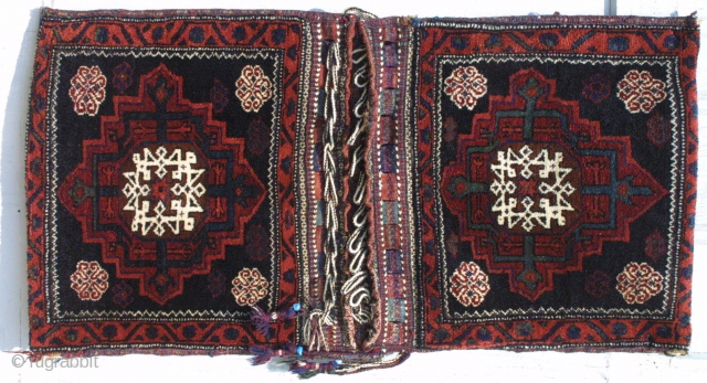 #91512 Afshar full complete pile Khorjin Absolutely no repairs 2-1 x 4-2 ft.  Circa 1900