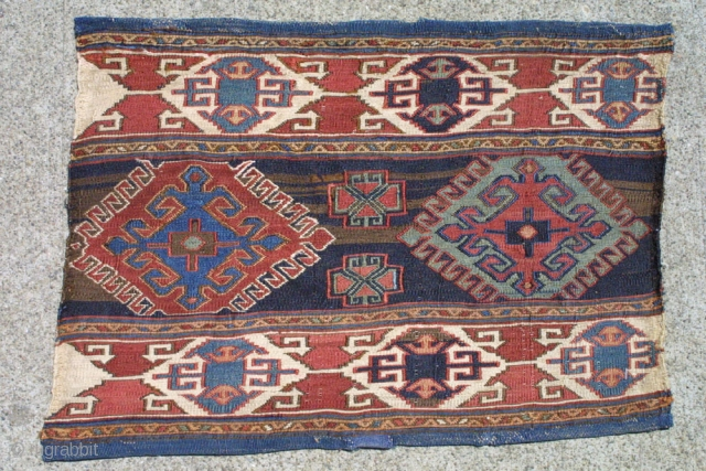 # 897  Shahsavan Mafrash side, N.W. Persia Circa 1880  Size 1-3 x 1-9 ft