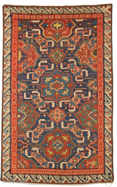 A remarkable Alpan Kuba, South Caucasus, Second half of the 19th century. 3-8 x 5-10 ft.