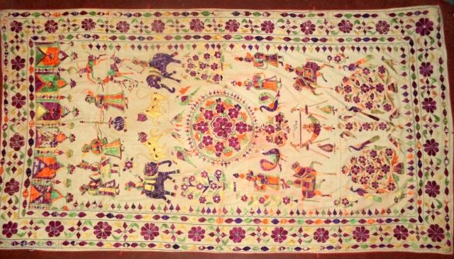 Antique textile with animal, gujarat, India. DSC00450.JPG