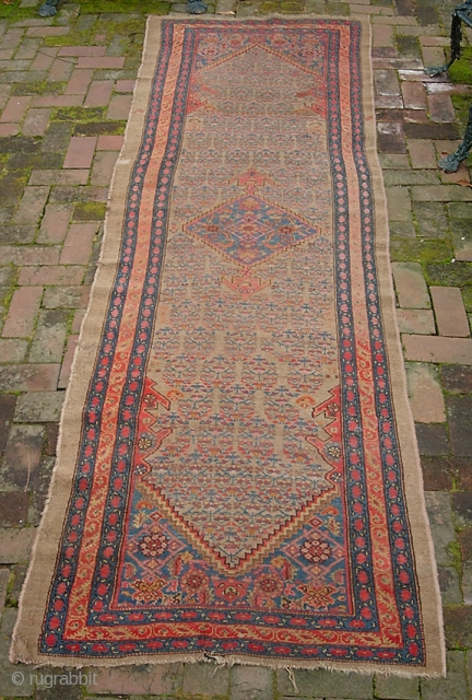 Camel Hamadan 3 Ft 2 Inches By 10 Ft 1 Inches Real Old