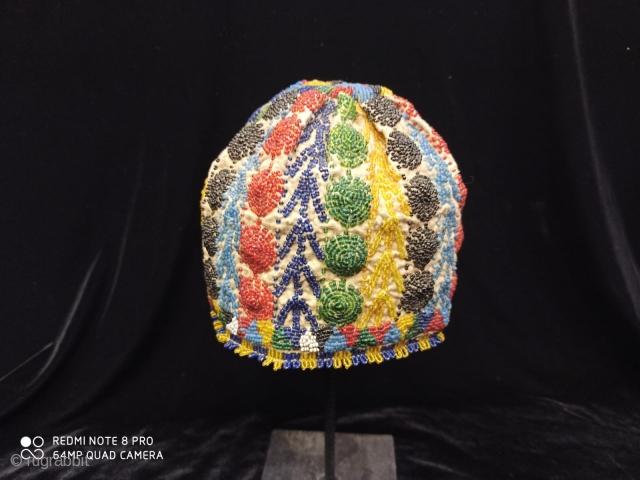Anatolian  bead hat, Kütahya İnköy