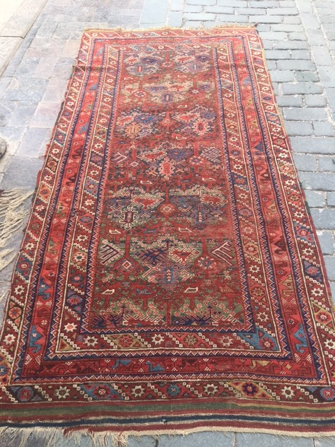 South-West Anatolian old Döşemealtı Rug.Size:130x260cm