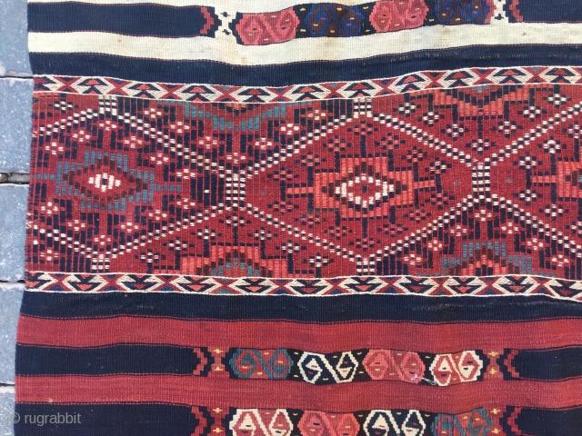 Kars kağızman kilim in perfect condition.İt has Sumak,Zili and cicim weaving.