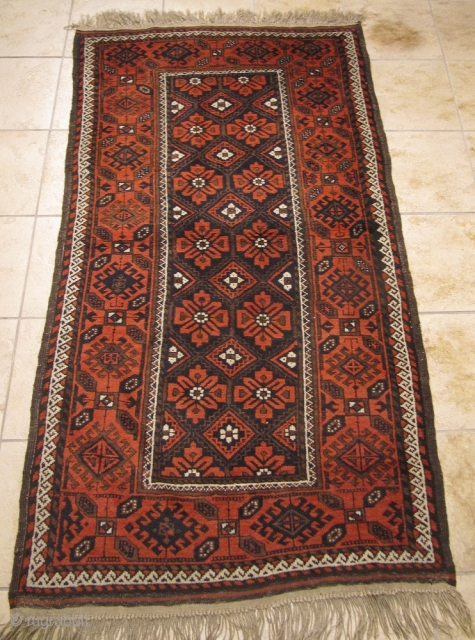 A very nice antique Baluch rug, good overall condition. size: 180x95cm / 6ft x 3'1''ft www.najib.de