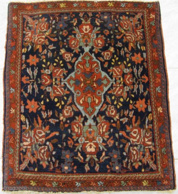 Antique Persian Bidjar Poshti. Circa 1900. Size: 75x63cm
