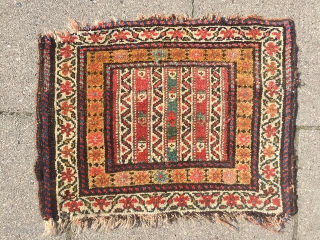 A colorful bagface woven by Kurds of Veramin area. 19th century, all natural dyes. Size: 60x45cm / 2ft x 1'5''ft www.najib.de