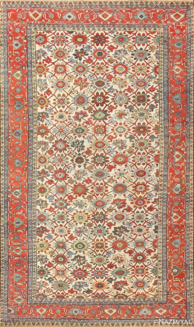 Lot # 2005 ALLOVER DESIGN IVORY ANTIQUE SERAPI CARPET. 17 FT 4 IN X 10 FT 5 IN (5.28 M X 3.17 M). This rug is part of our Sept 26th auction.  ...