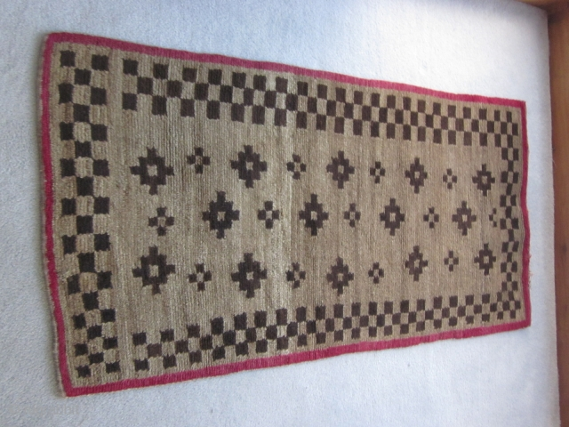 Tibetan khaden, sleeping and sitting rug, about 3 by 5 ft, circa.1900-1920,  excellent condition, $500