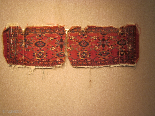 Turkmen,  ersari bag face awaiting re-unification, 15 by 51 inches, late 19thC