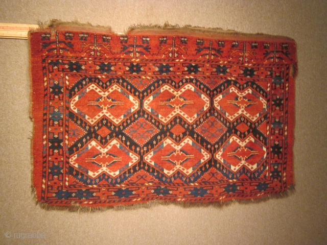 Turkmen, Beshir chuval, 35 by 53 inches, late 19thC