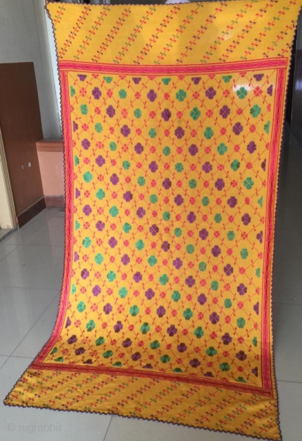 Swat valley woman shawl , The embroidery is handmade and done with silk threads.