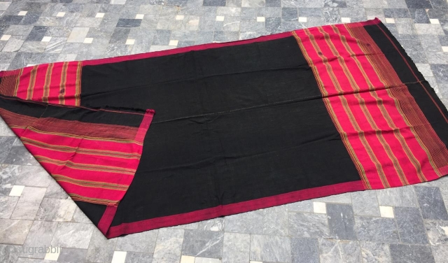 Tribal Swat valley Silk shawl , complete handcrafted