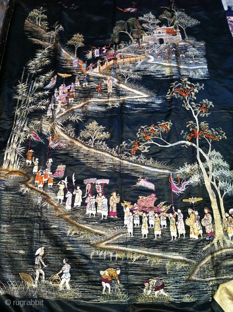 A beautiful old Chinese embroidery in perfect condition.