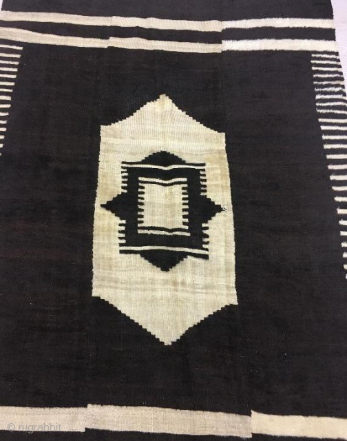 Anatolian siirt blanket with three panel in good condition,197 x 130 cm