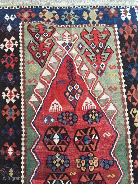 Anatolian prayer kilim in good condition 145 x 75 cm