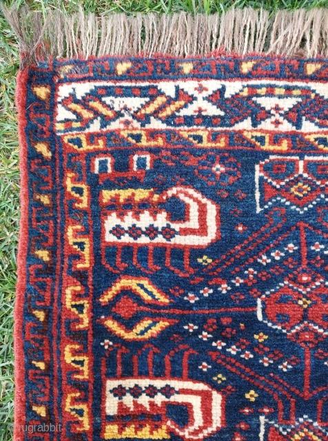 19th. Century Persian Khamseh Bag face size: 50 x 55
