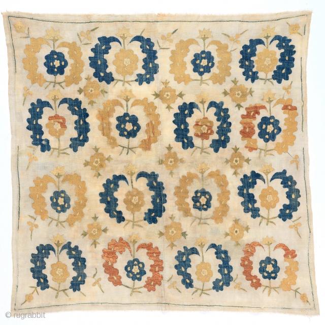 Ottoman silk embroidered Boche. late 18th century. Good condition. 112 x 110cm