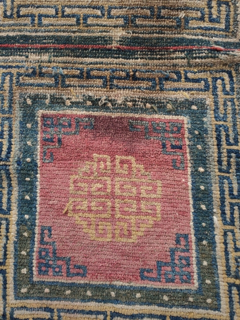 mid 19c. tibetan squares of  smaller size...very nice old colors