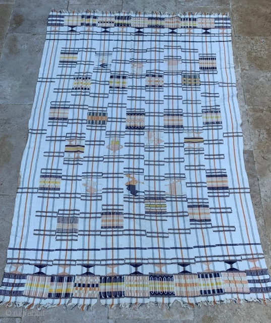 pagne.  niger or burkina faso etnie djerma  200x 132cm    please compare with paris musee de l homme inv. D31.16.4