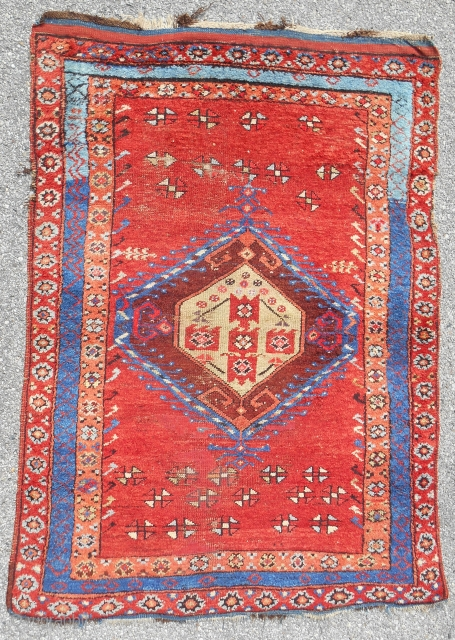 Early 19th C. Karapinar rug (4x6) in good condition.