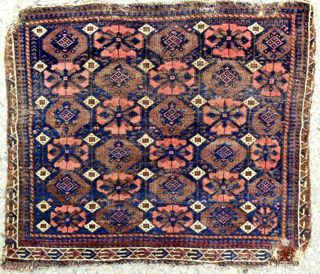 Old, thin, rare, Baluch bagface. Where are the Baluch collectors??