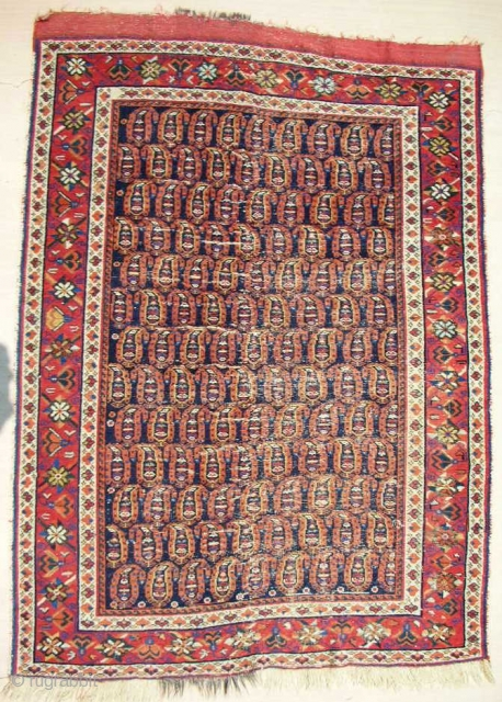 Fine Afshar boteh rug > c. 1870-80. About 4 x 6ft.