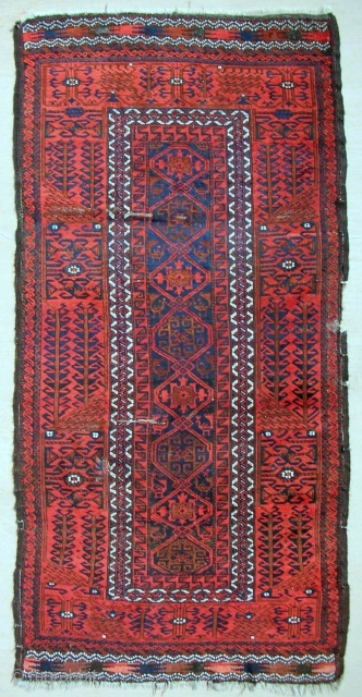 Khorassan Baluch rug. Circa 1870-80. Good pile.