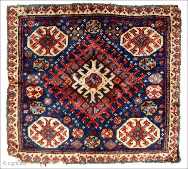 Northwest Persian bagface. Bold design. Good pile. c. 1870.