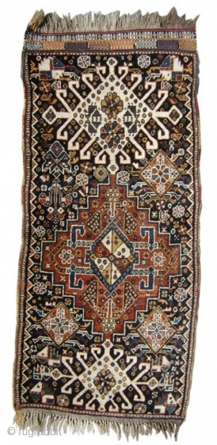 "Qaashqai elongated bagface or balisht? 1'8""x3'0"", Rug# 12772"