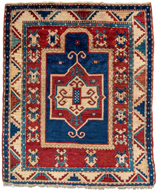 "Fachralo Kazak prayer rug, 3'7"" x 4'1"", 