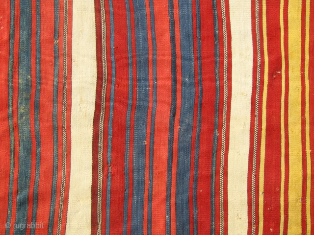 west anatolian chuval face?/back?....mid-19th (with 18th c. dyes)...i think this is the face of a chuval with a plain-weave, white back, but it could also be the back of a chuval with  ...