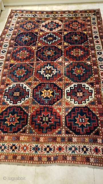 Beautiful 1900s  Moghan Kazak Full pile Size 205x135cm  More photos available on request
