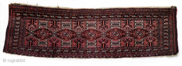 Late 19th century silk in-laid Saryk Torba Size: 134x40cm Very good condition