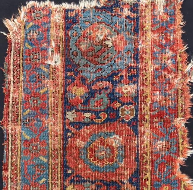 Early 18th Century West Anatolian Ushak fragment Size.230x60 Cm