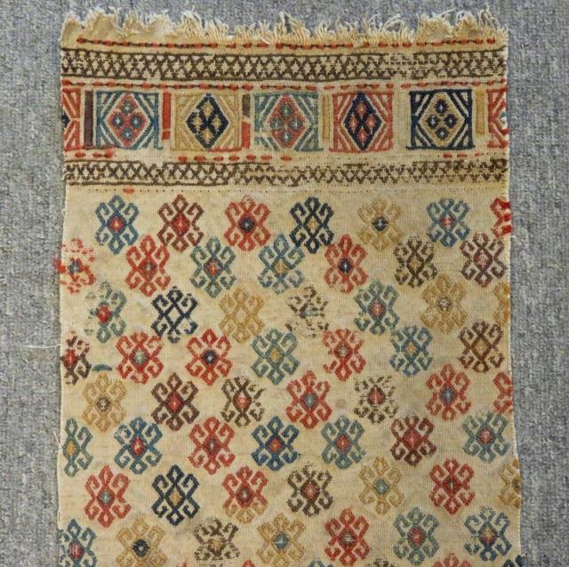 Antique Shahsavan Fragment Cecim fragmetn Size.84x28 Cm