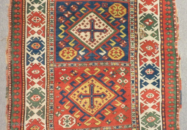 Antique Caucasian Shahsaven Runner Rug Size.395x110 Cm