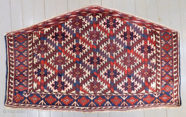 Mid 19th Century Türkmen Yamud Torba Rug good Condition And very fine quality Size.125x75 Cm