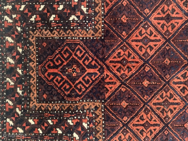 """Baluch - Late 19th Century  Measuring 4'3"""" x 2'7"""" Mint condition  Beautiful colours and unique design"""