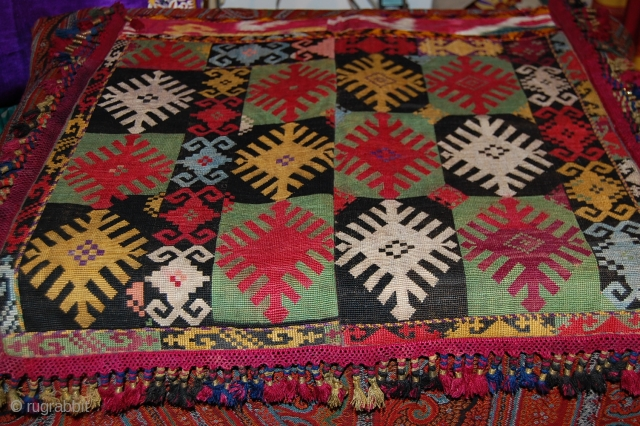 Beautiful Old 19th Century lakai, fine embroidery and very nice colours.