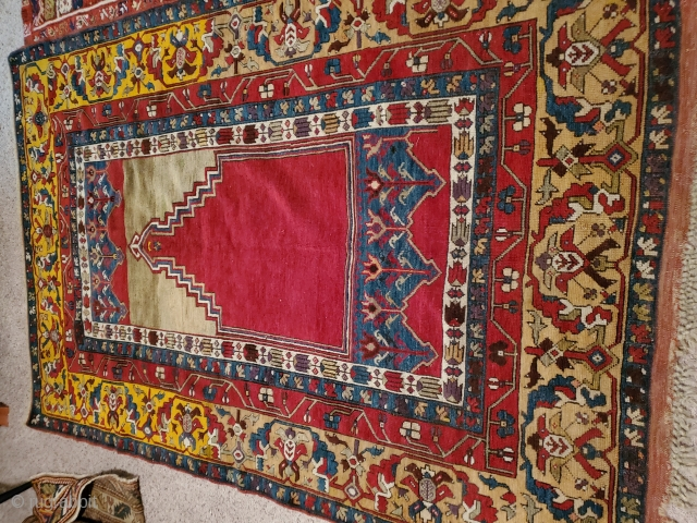 Now you can have an instant collection!  Ladik prayer  I can venture  19th cen.  Good weave  solid dyestuffs front to back. Ottoman inspired border ,  ...