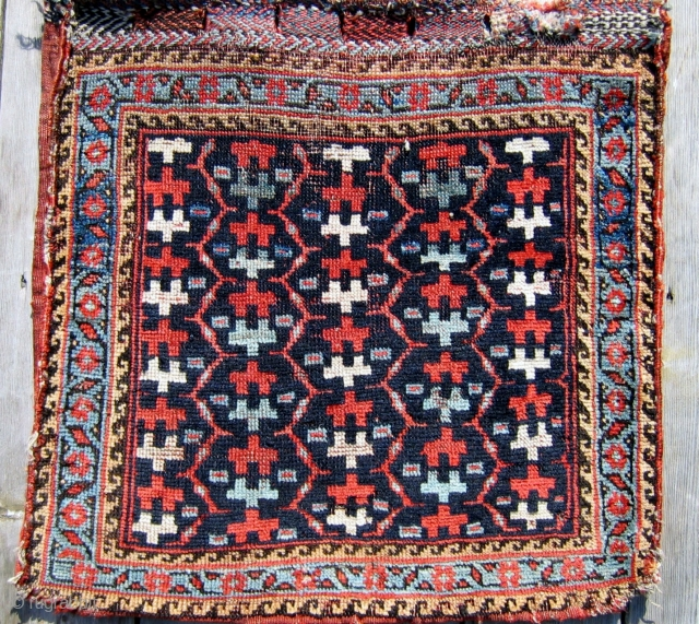 "S.W. Persian Luri Saddle bag (1/2 khordjin) late 19th c.  21"" x 22"".