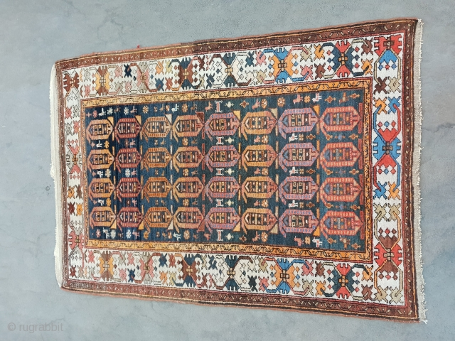 Malayer rug, 159 cm * 100 cm  Early 19th century  In mint condition