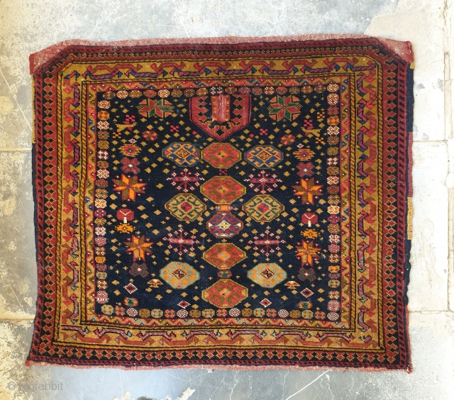 Unique horse saddle cover from Turks of Afshar with attractive design, this precious piece is in excellent condition 