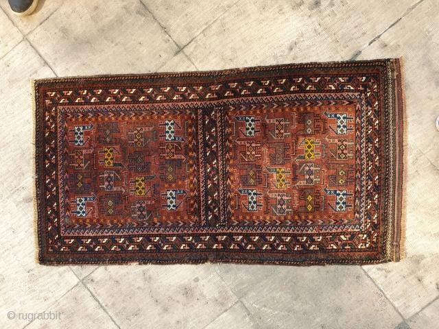 Balooch rug with peacocks
