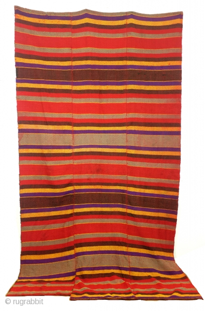 Qashqai , they call it Moj - means gulf in Farsi , 320 x 180 Cm. 19th - early 20th century.  In mint condition.   woven in narrow strips and then sewn  ...