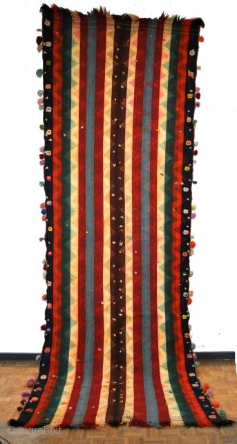 379 x 125 Cm. Kilim Shahsavan early 20th century.