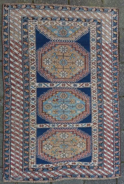 Caucasian Kuba, 151 x 100 cm., ca. 1900. Selvedges cut and renewed.