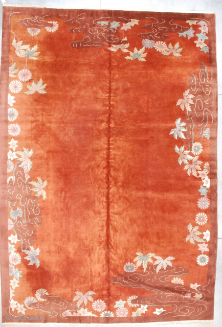 #7145 Antique Art Deco Chinese Rug