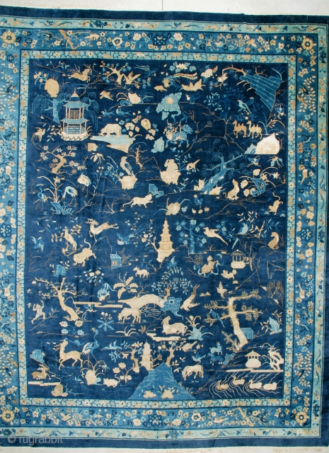 #6888 Antique Peking Chinese Rug 